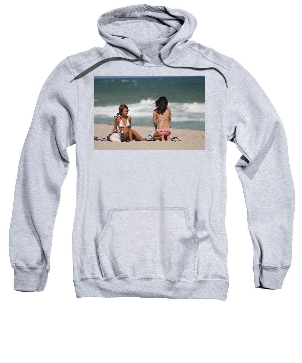 Sea Scape Sweatshirt featuring the photograph Billabong Girls by Rob Hans