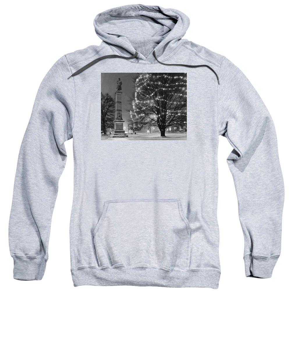Civil Sweatshirt featuring the photograph Billerica Common 004 by Jeff Stallard