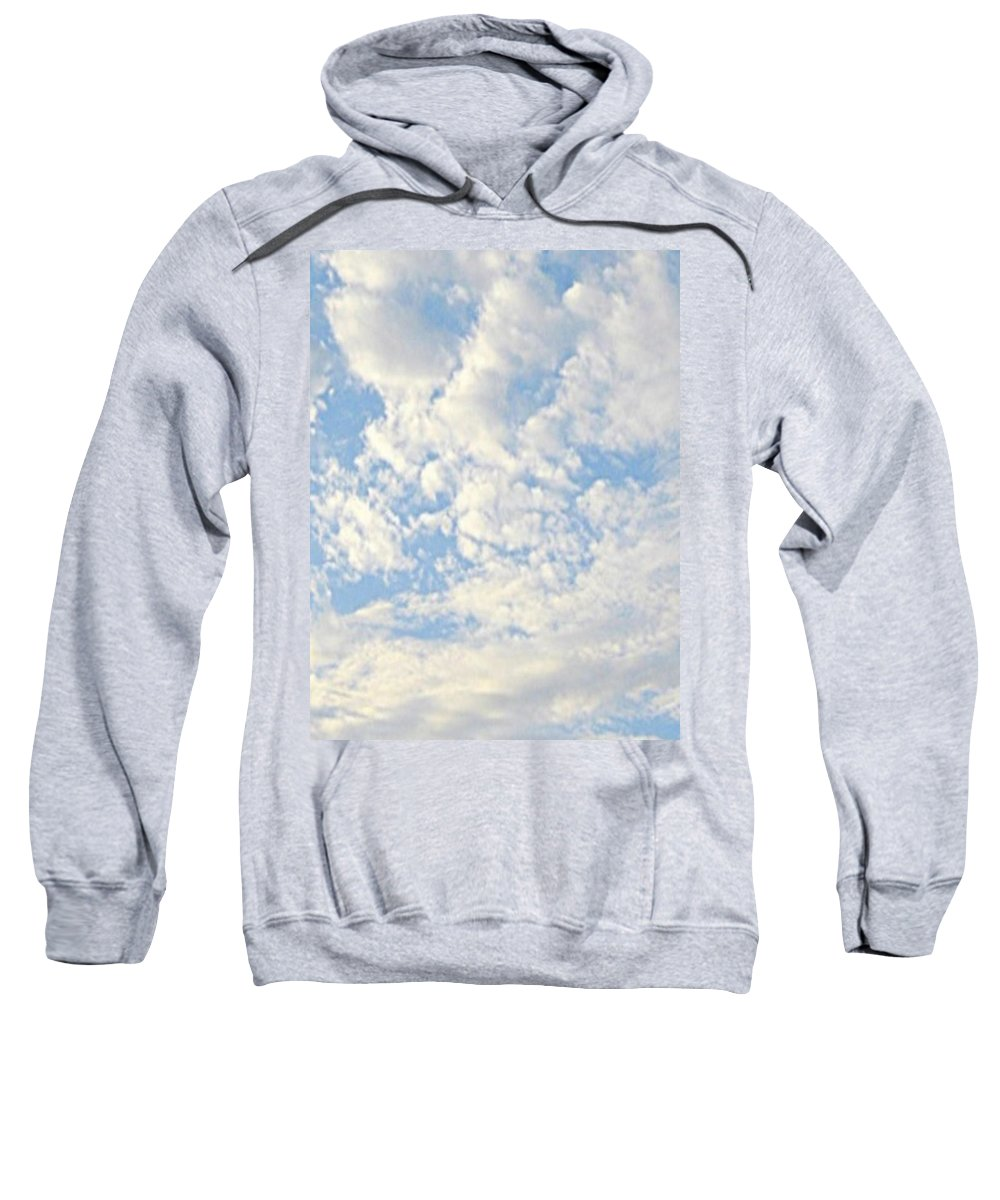 Clouds Sweatshirt featuring the photograph Billowy by Lillian Hibiscus