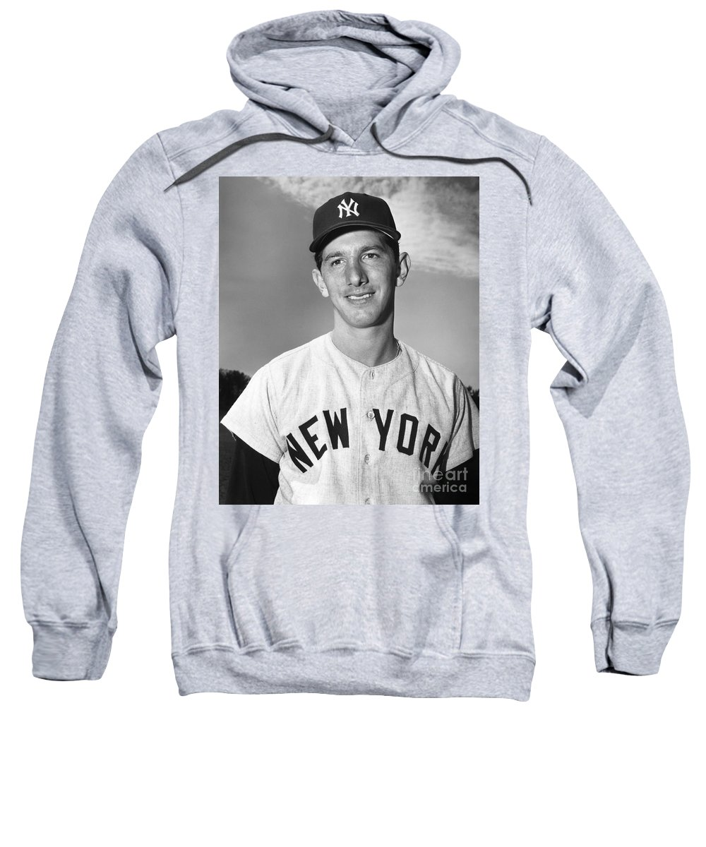1953 Sweatshirt featuring the photograph Billy Martin (1928-1989) by Granger