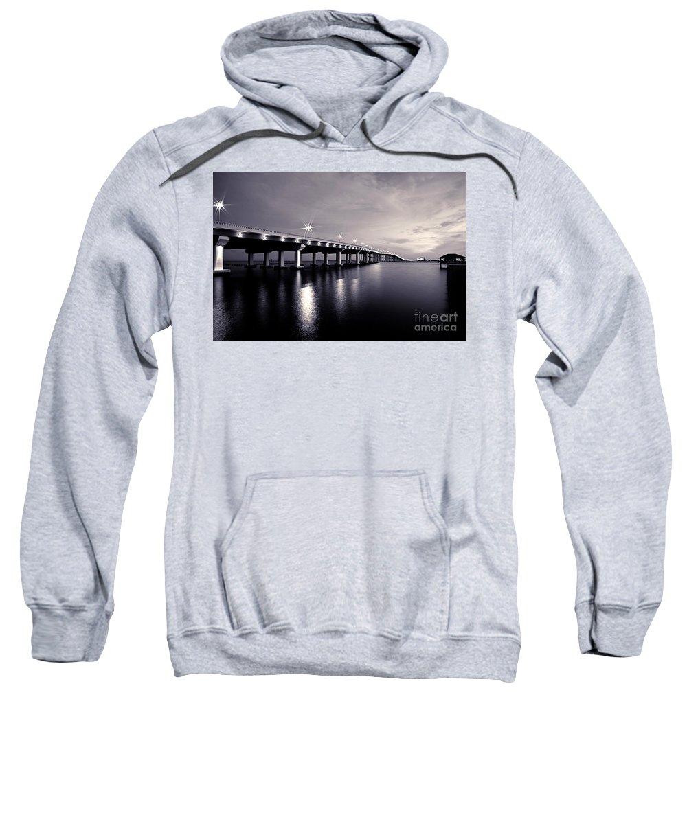 Biloxi Sweatshirt featuring the photograph Biloxi Moods by Joan McCool