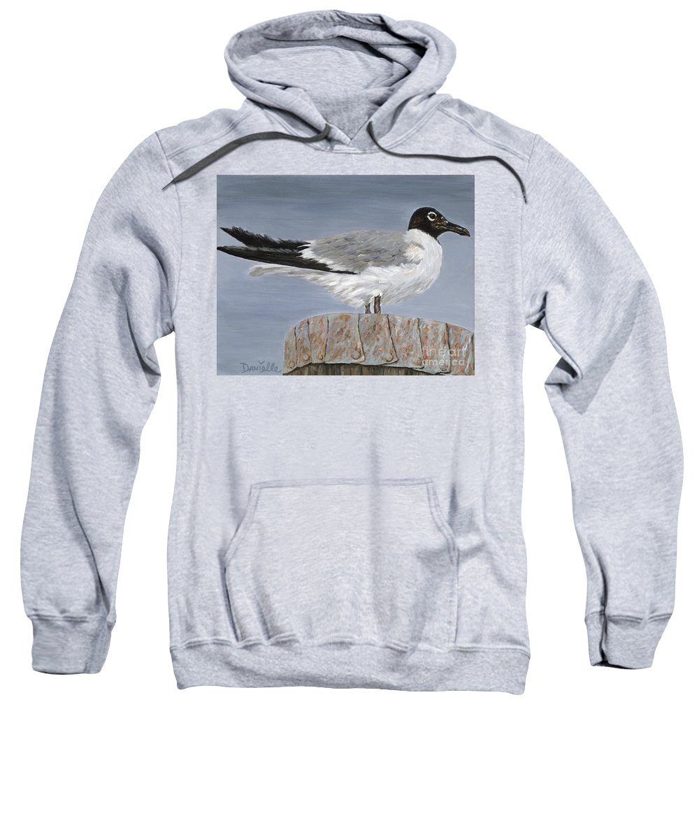Seagull Sweatshirt featuring the painting Bimini Gull by Danielle Perry