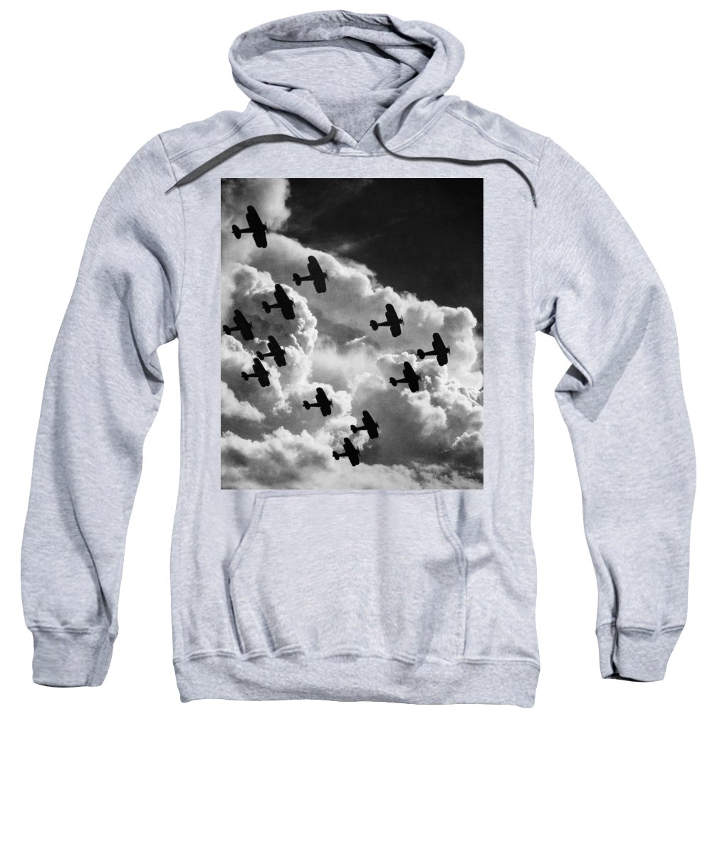 1917 Sweatshirt featuring the photograph Biplanes, C1917 by Granger