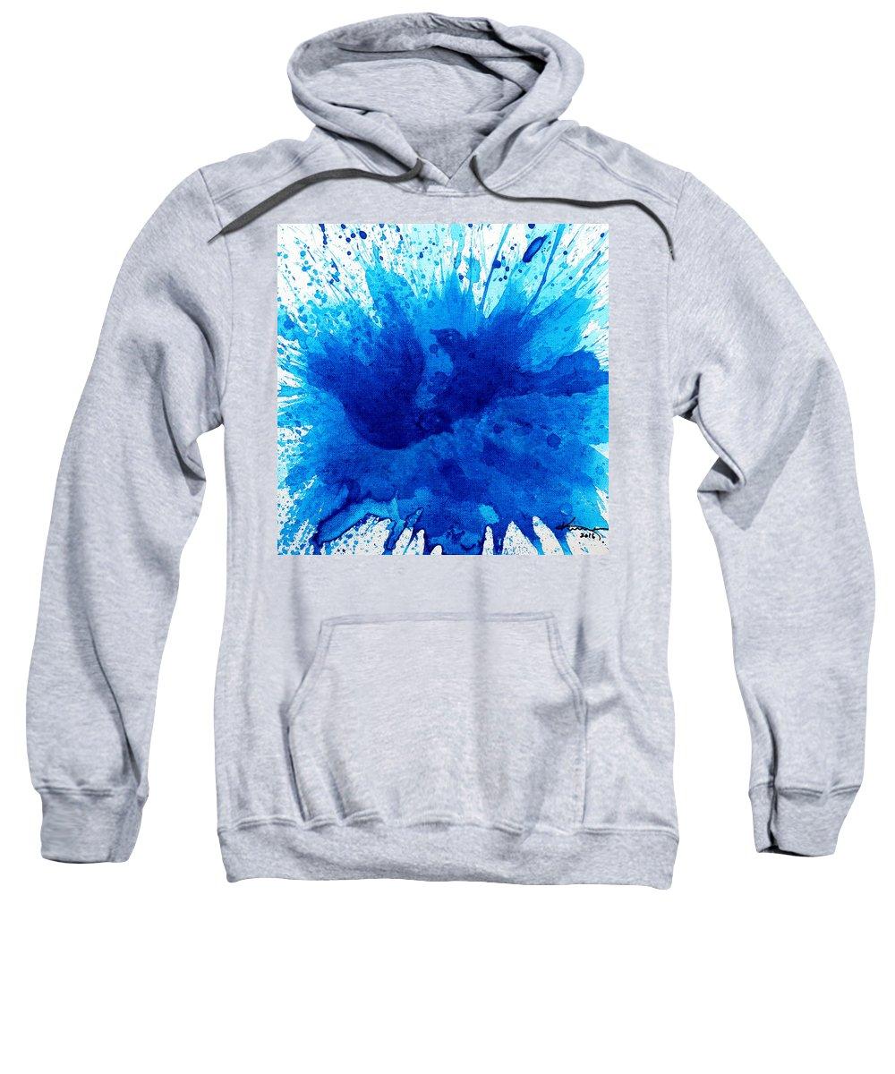 Bath Sweatshirt featuring the painting Bird Bath 4 by Kume Bryant