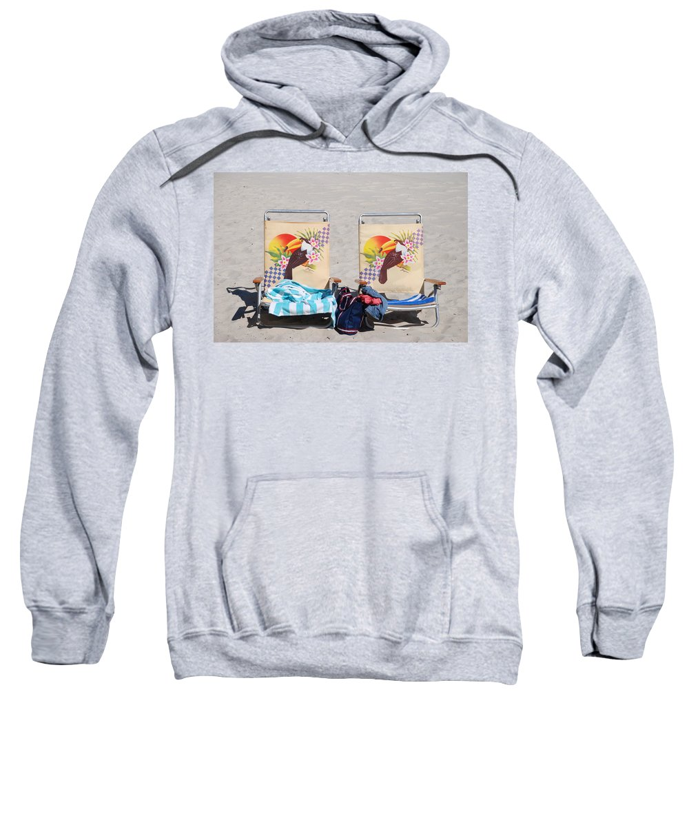 Chairs Sweatshirt featuring the photograph Bird Chairs by Rob Hans