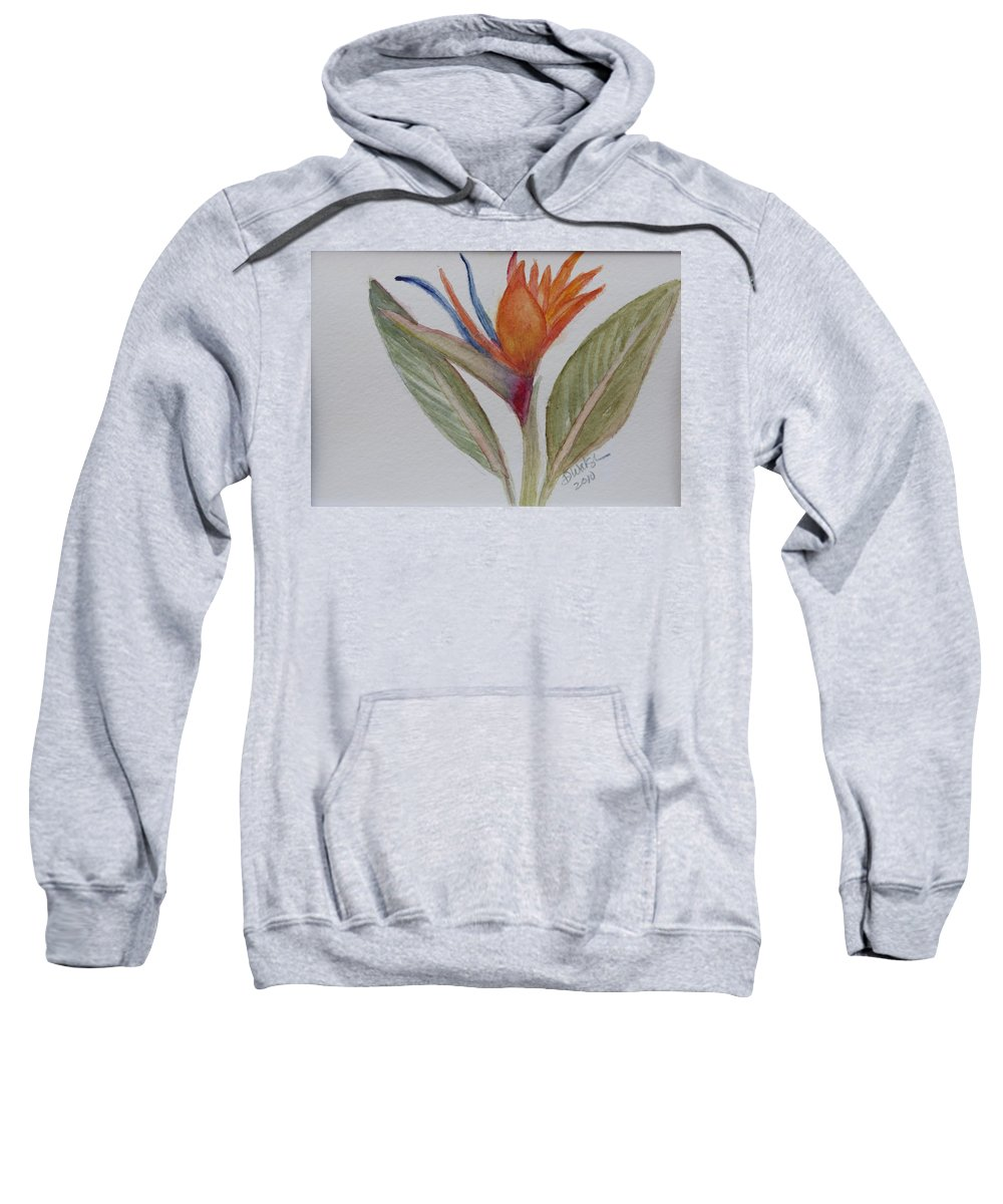 Bird Of Paradise Sweatshirt featuring the painting Bird Of Paradise by Donna Walsh