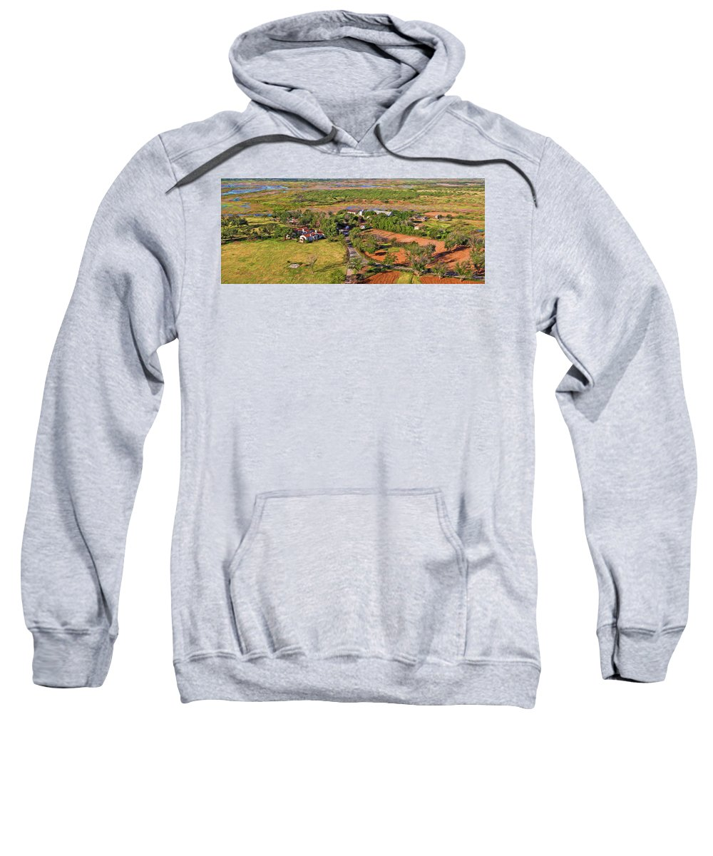 Ranch Sweatshirt featuring the painting Bird Over Santa Rosa, Nbr 1d by Will Barger