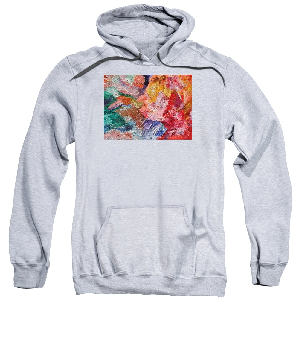 Fusionart Sweatshirt featuring the painting Birth Of Passion by Ralph White
