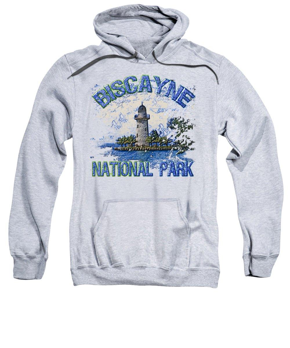 Biscayne National Park Sweatshirt featuring the digital art Biscayne National Park by David G Paul