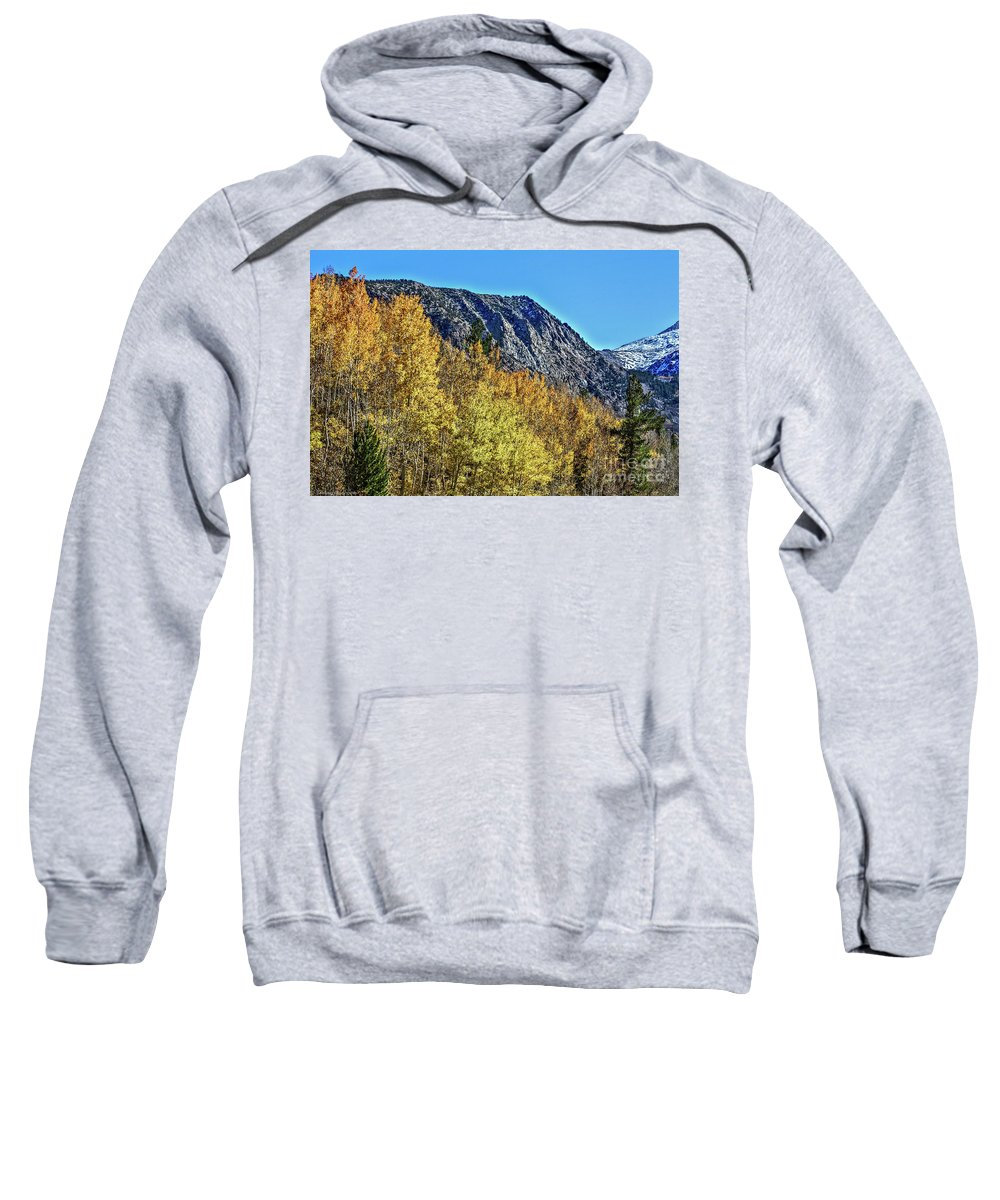 Bishop Sweatshirt featuring the photograph Bishop Creek Mountains by Tommy Anderson