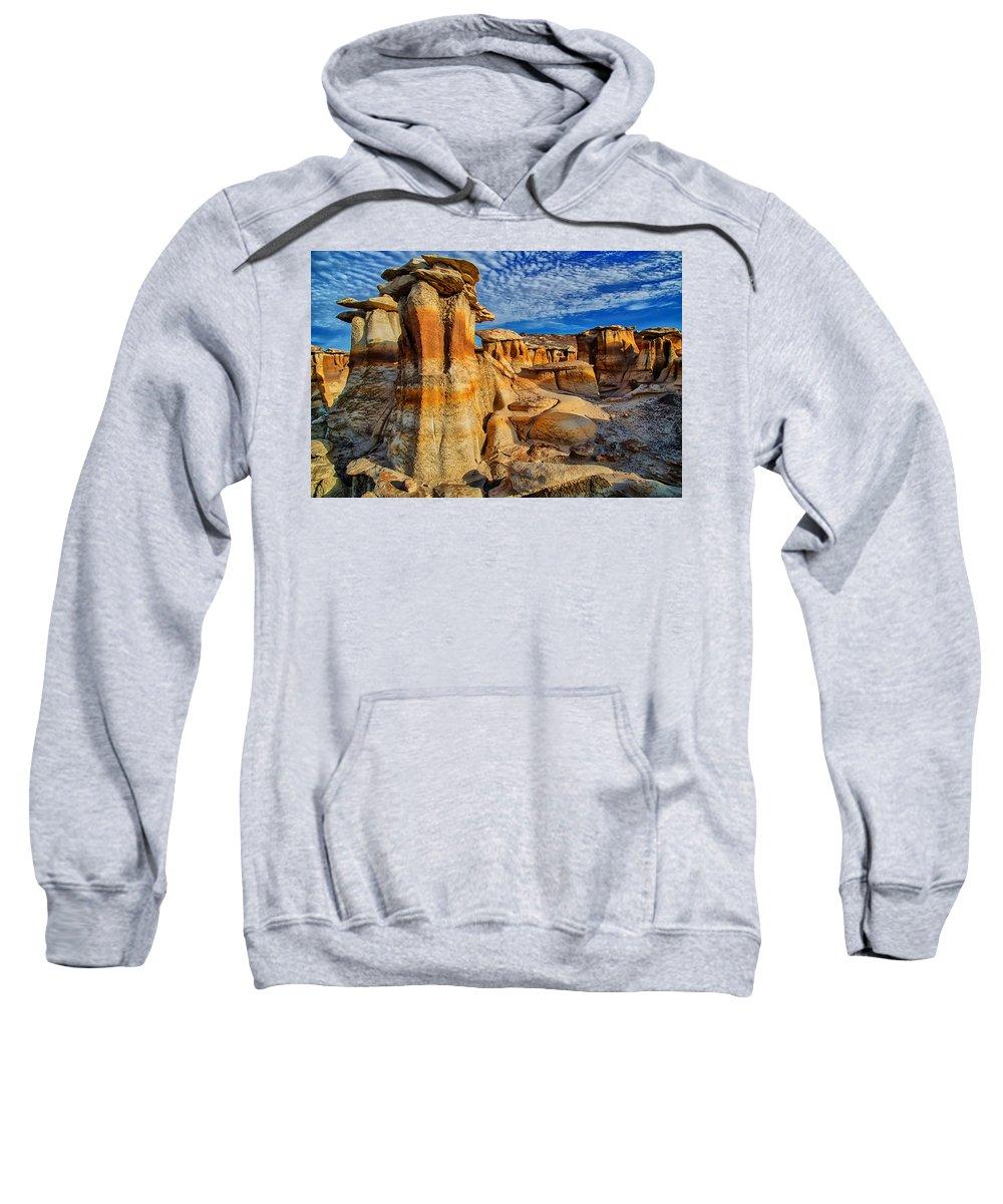 Bisti Badlands Sweatshirt featuring the photograph Bisti Badlands 12 by Ingrid Smith-Johnsen