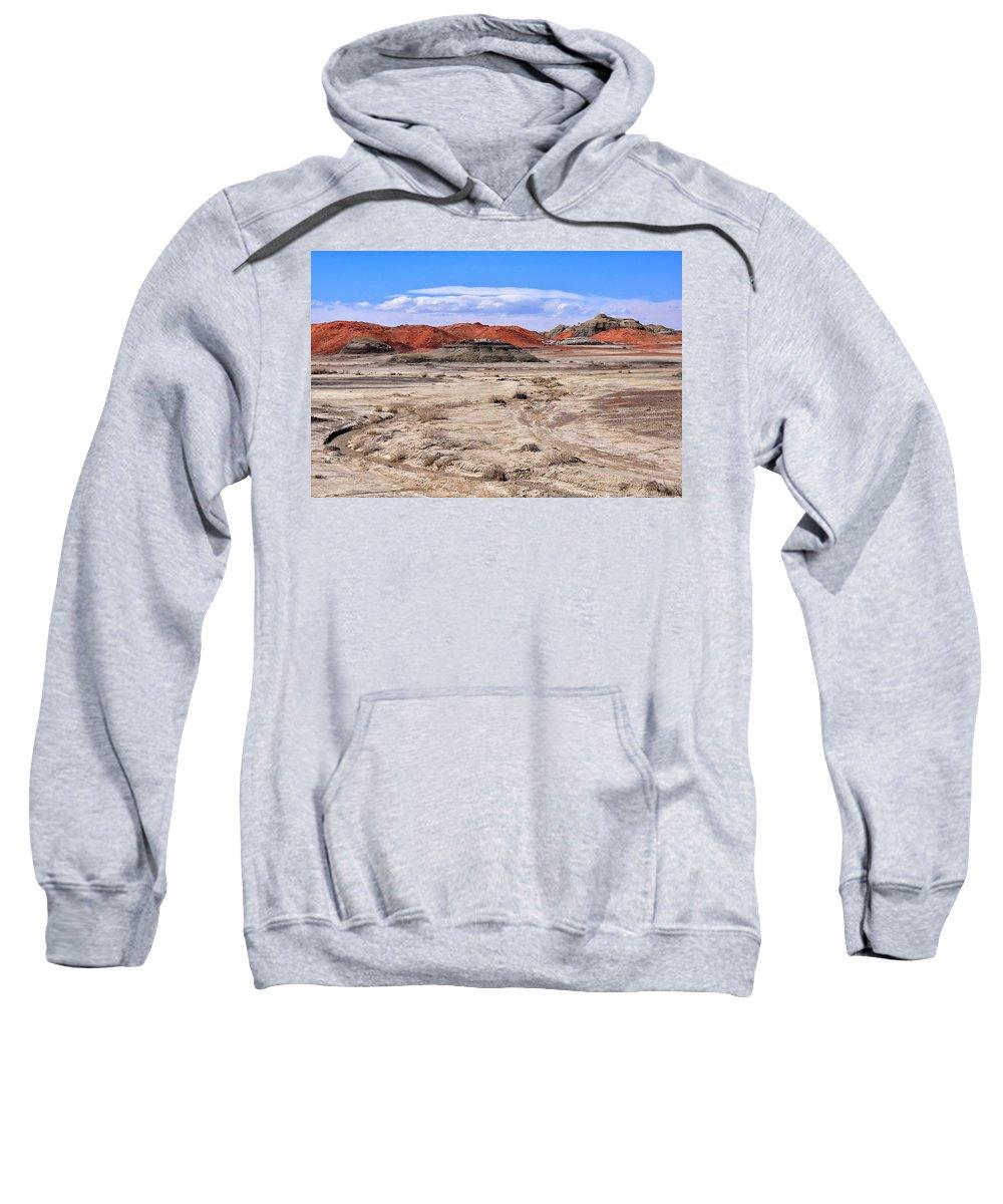 Bisti Badlands Sweatshirt featuring the photograph Bisti Badlands 6 by Ingrid Smith-Johnsen