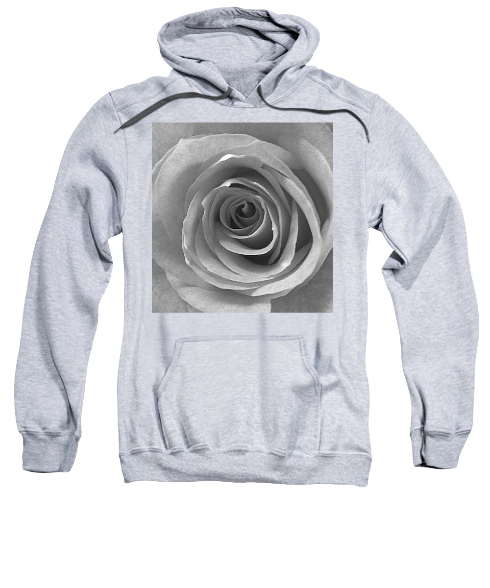 Rose Pedals Sweatshirt featuring the photograph Black And White by Luciana Seymour