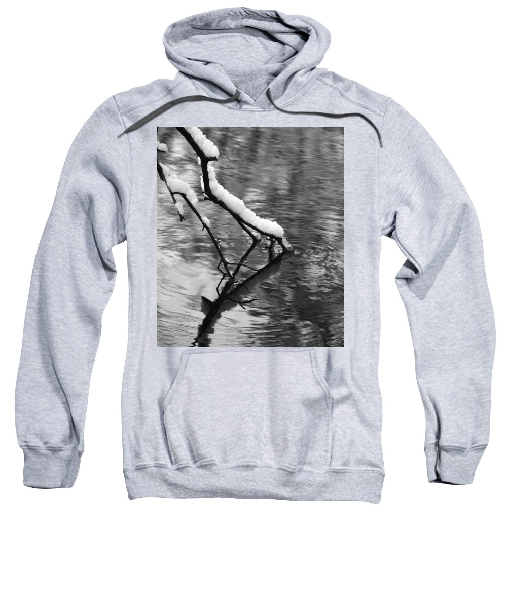 Black And White Winter Mood Sweatshirt featuring the photograph Black And White Winter Mood by Dan Sproul