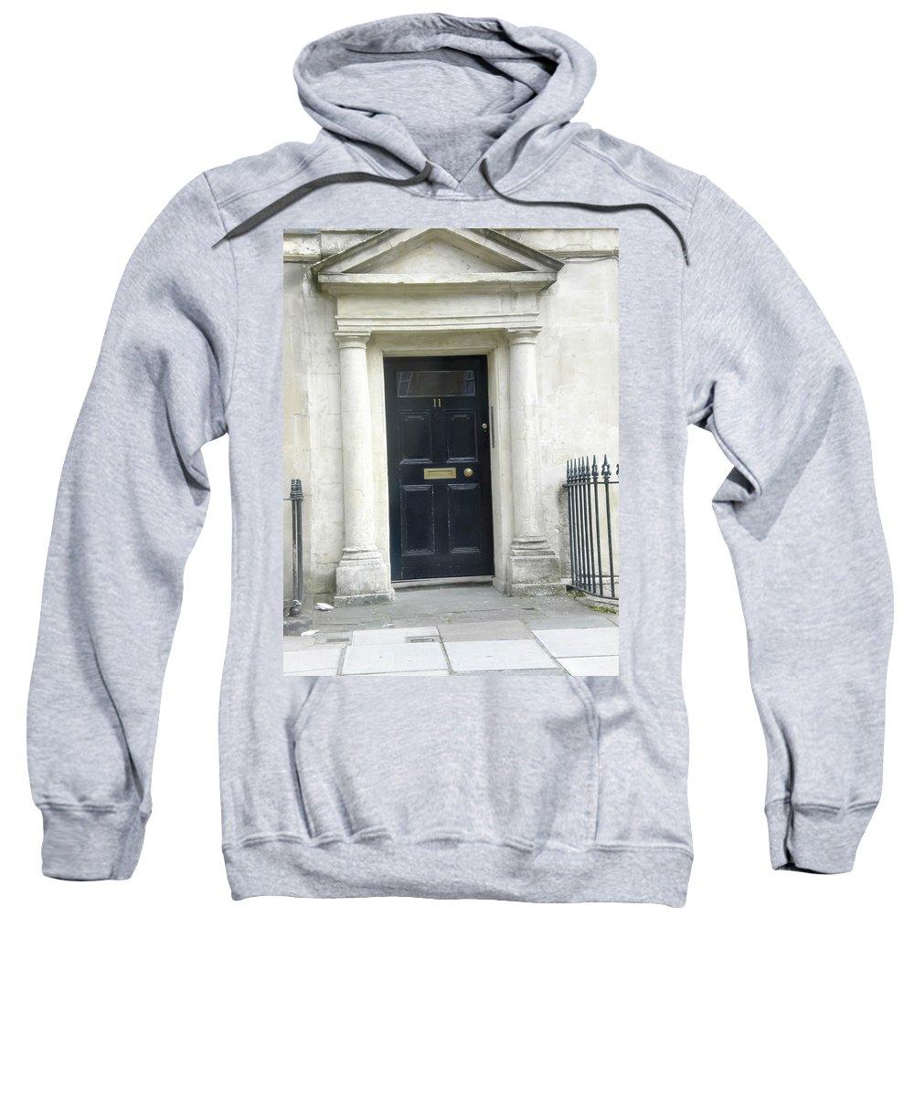 Black Door Sweatshirt featuring the photograph Black Door by Butter Milk