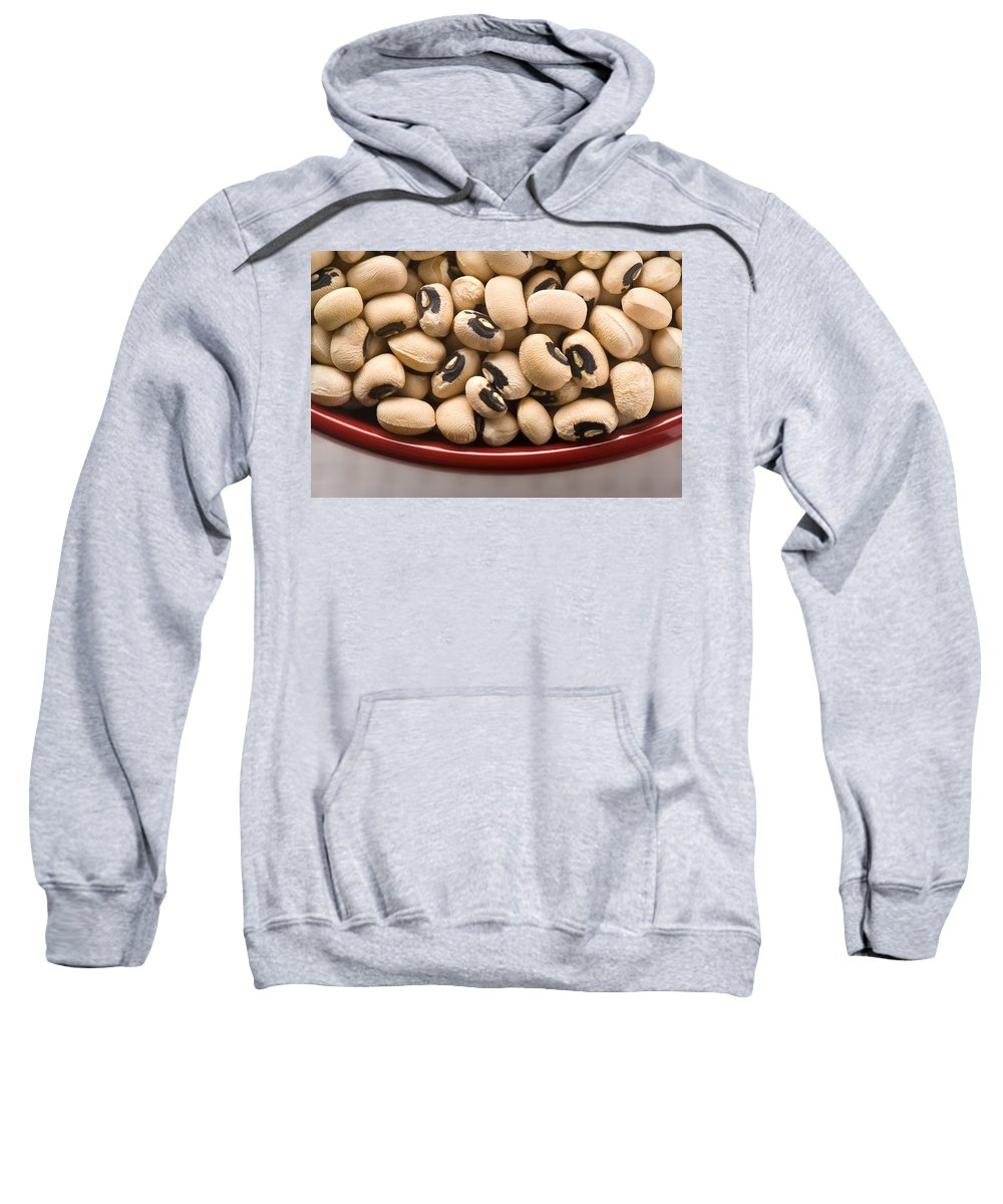 Beans Sweatshirt featuring the photograph Black Eyed Peas by Steve Gadomski