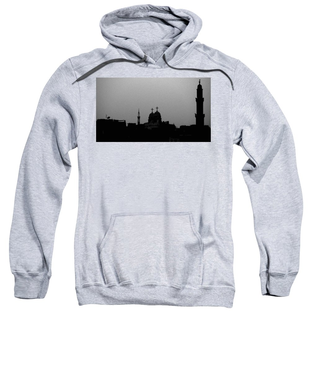 Nile Sweatshirt featuring the photograph Black White Symbiosis by Dragica Micki Fortuna