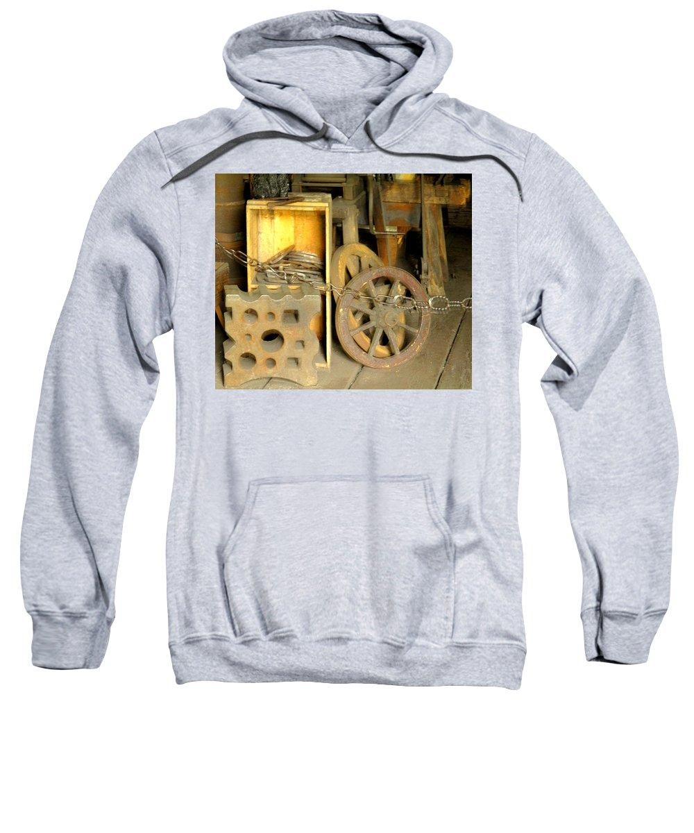 Blacsmiith Sweatshirt featuring the photograph Blacksmiths Shop by Ian MacDonald