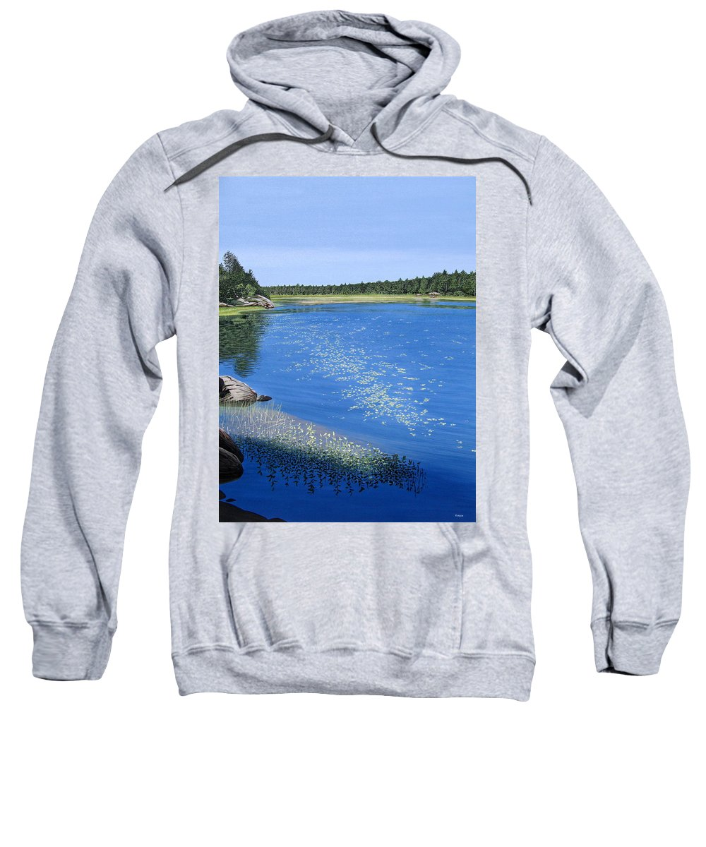 Landscapes Sweatshirt featuring the painting Blackstone Bog by Kenneth M Kirsch