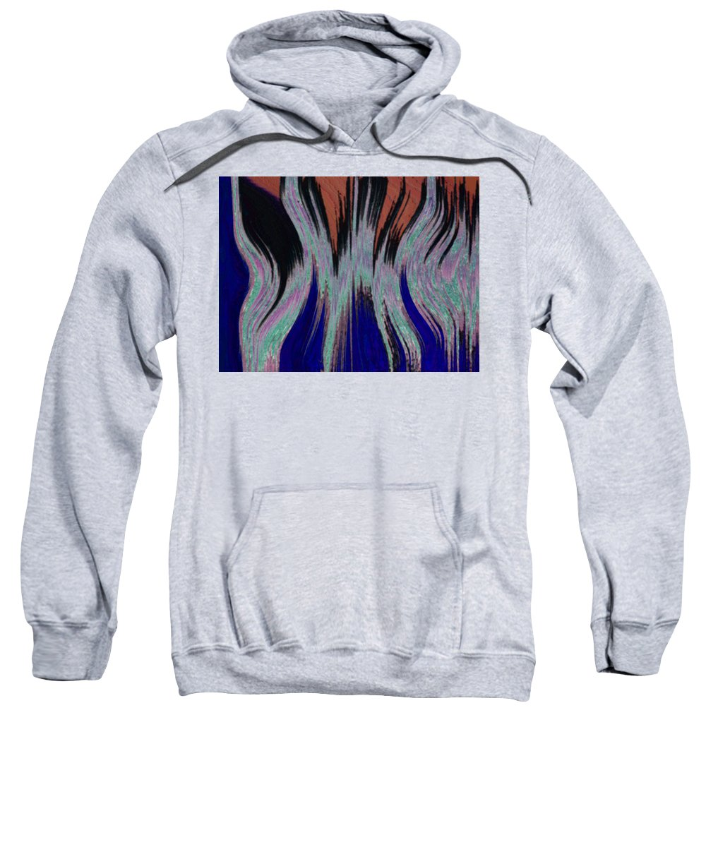 Abstract Sweatshirt featuring the digital art Blades Of Fire by Lenore Senior