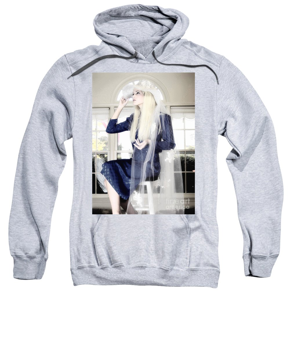 Clay Sweatshirt featuring the photograph Blanco Beauty by Clayton Bruster