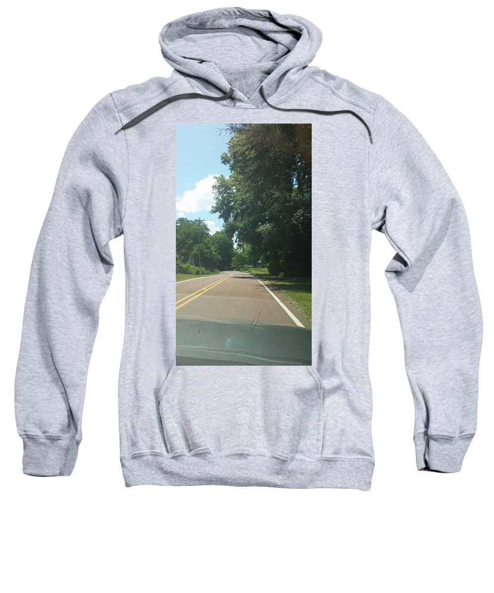 Sweatshirt featuring the photograph Blank Road by Asia Wilson