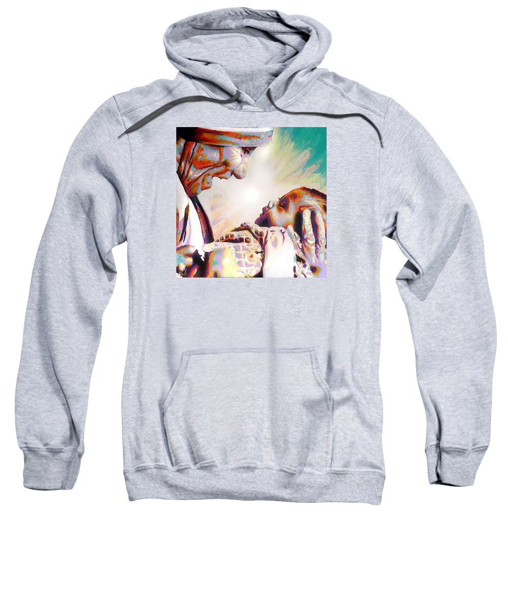 Blessed Teresa Of Calcutta Sweatshirt featuring the painting Blessed Mother Teresa by Steve Gamba