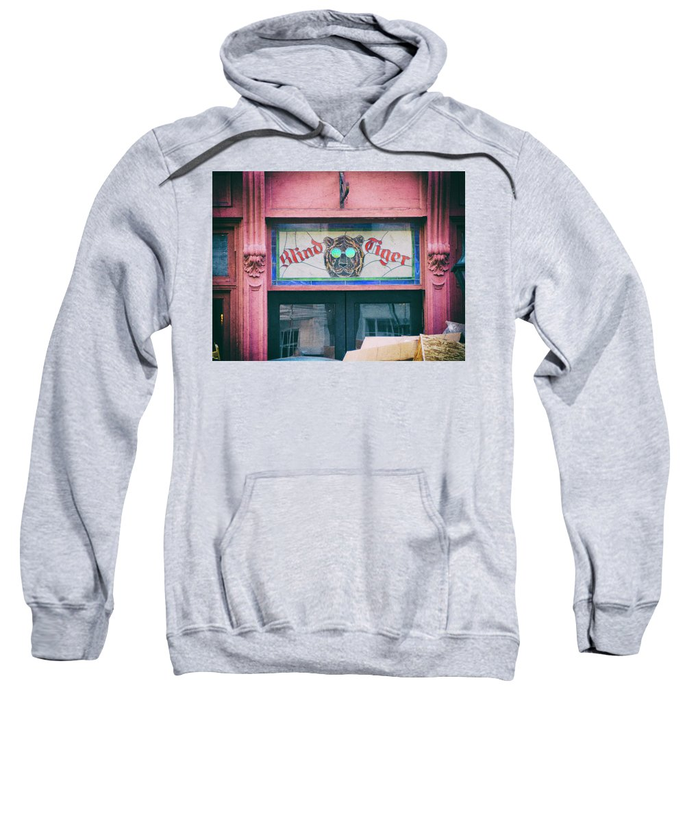 Stained Glass Sweatshirt featuring the photograph Blind Tiger by Michael Colgate