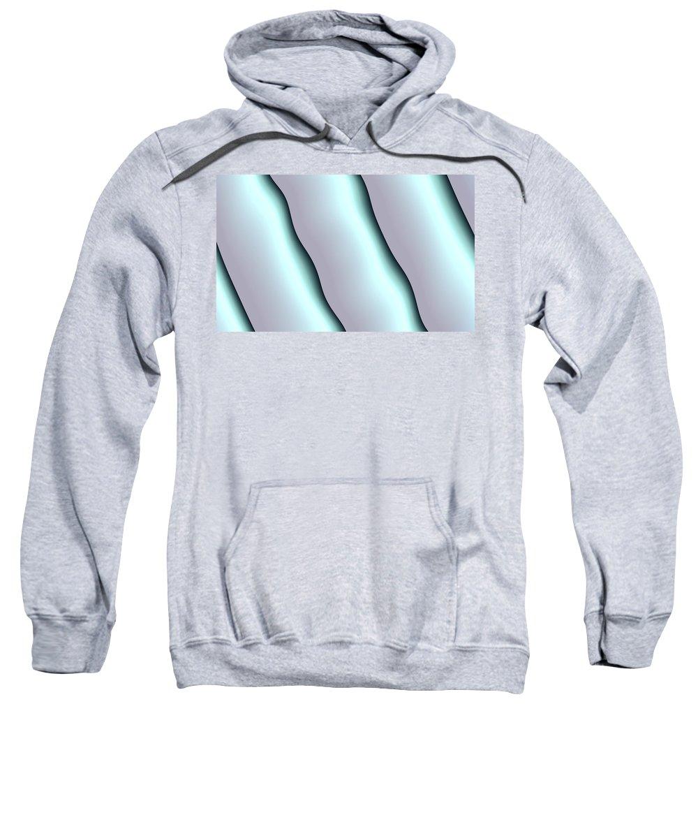 Art Digital Art Sweatshirt featuring the digital art Blind Front by Alex Porter