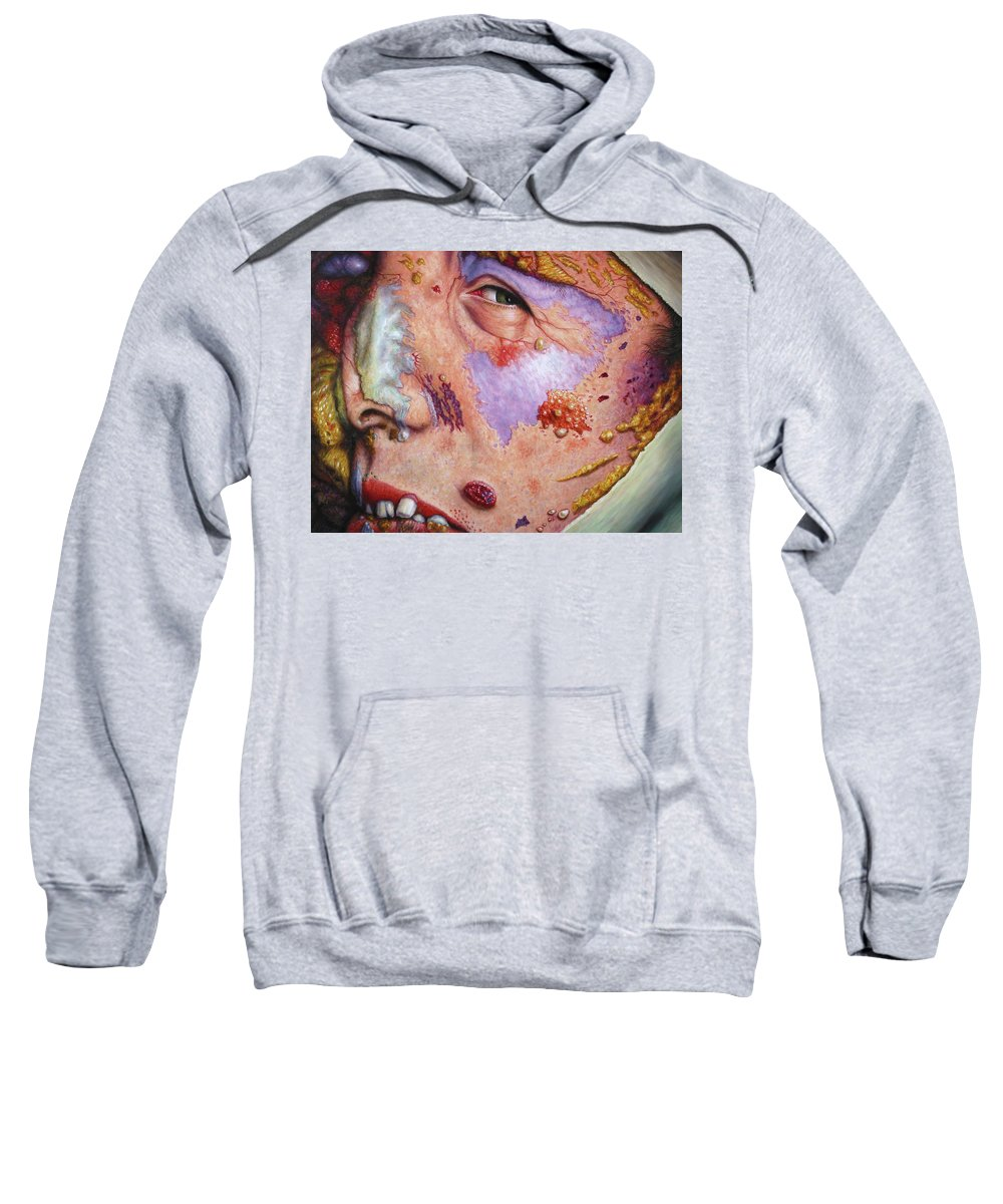 Gross Sweatshirt featuring the painting Blindsided by James W Johnson