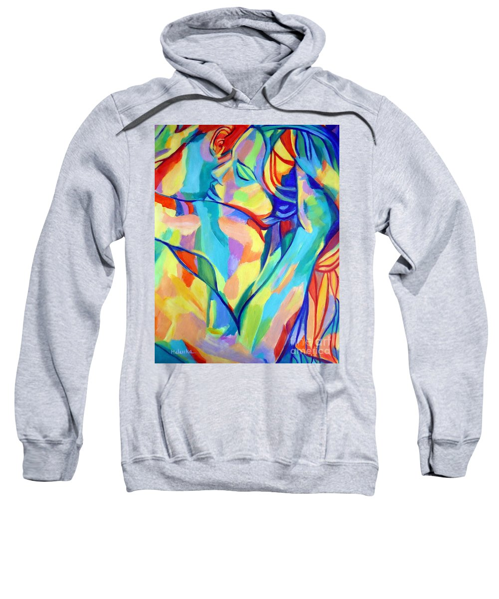 Affordable Paintings For Sale Sweatshirt featuring the painting Bliss by Helena Wierzbicki
