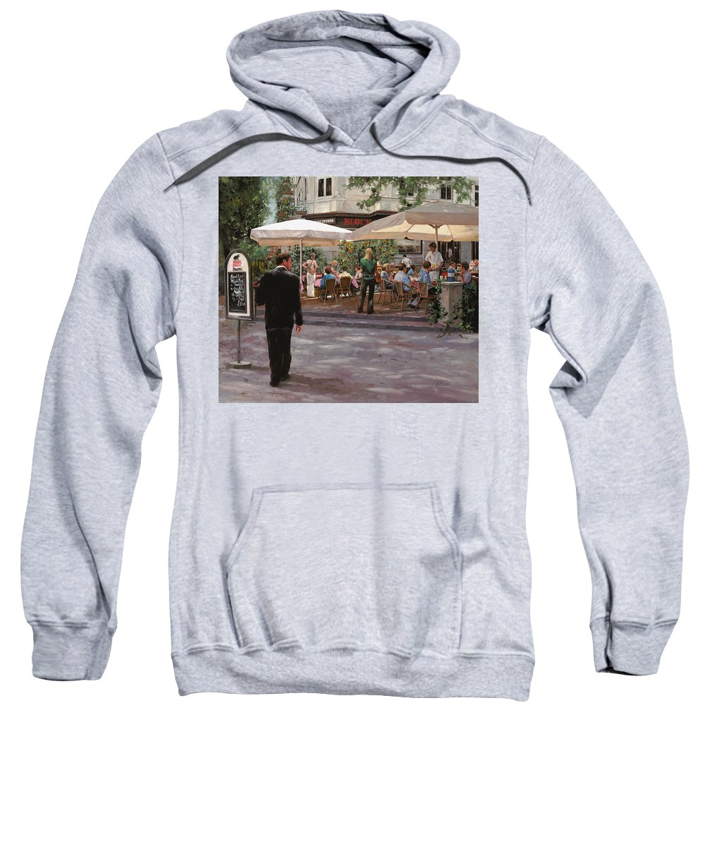 Blockhouse Sweatshirt featuring the painting Blockhouse by Guido Borelli