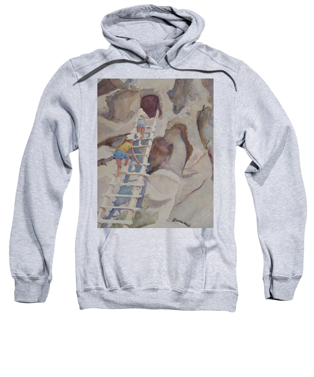 Ladder Sweatshirt featuring the sculpture Blond Indians by Jenny Armitage
