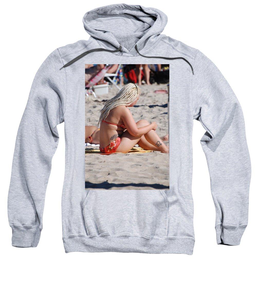 Girls Sweatshirt featuring the photograph Blondie Braids by Rob Hans
