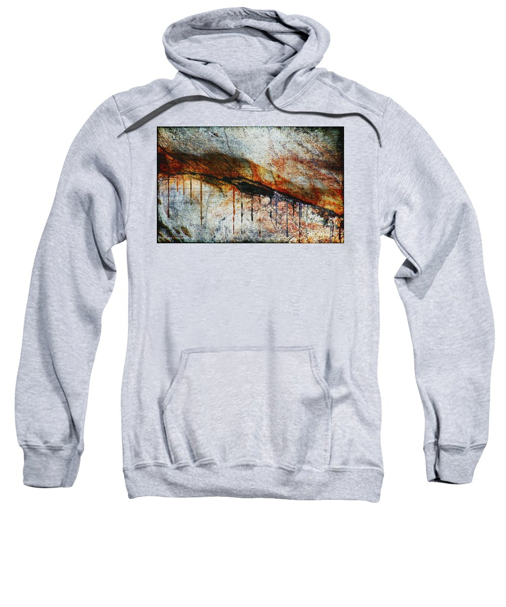 Rock Sweatshirt featuring the painting Blood From A Stone by RC DeWinter