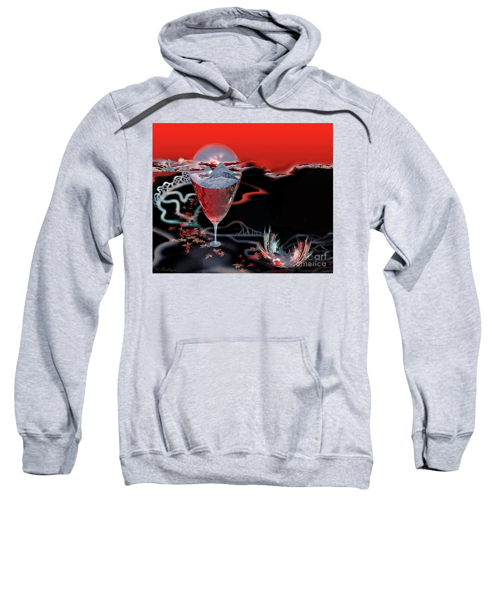 Blood Sweatshirt featuring the digital art Blood Red From Pure White by Jennifer Kathleen Phillips