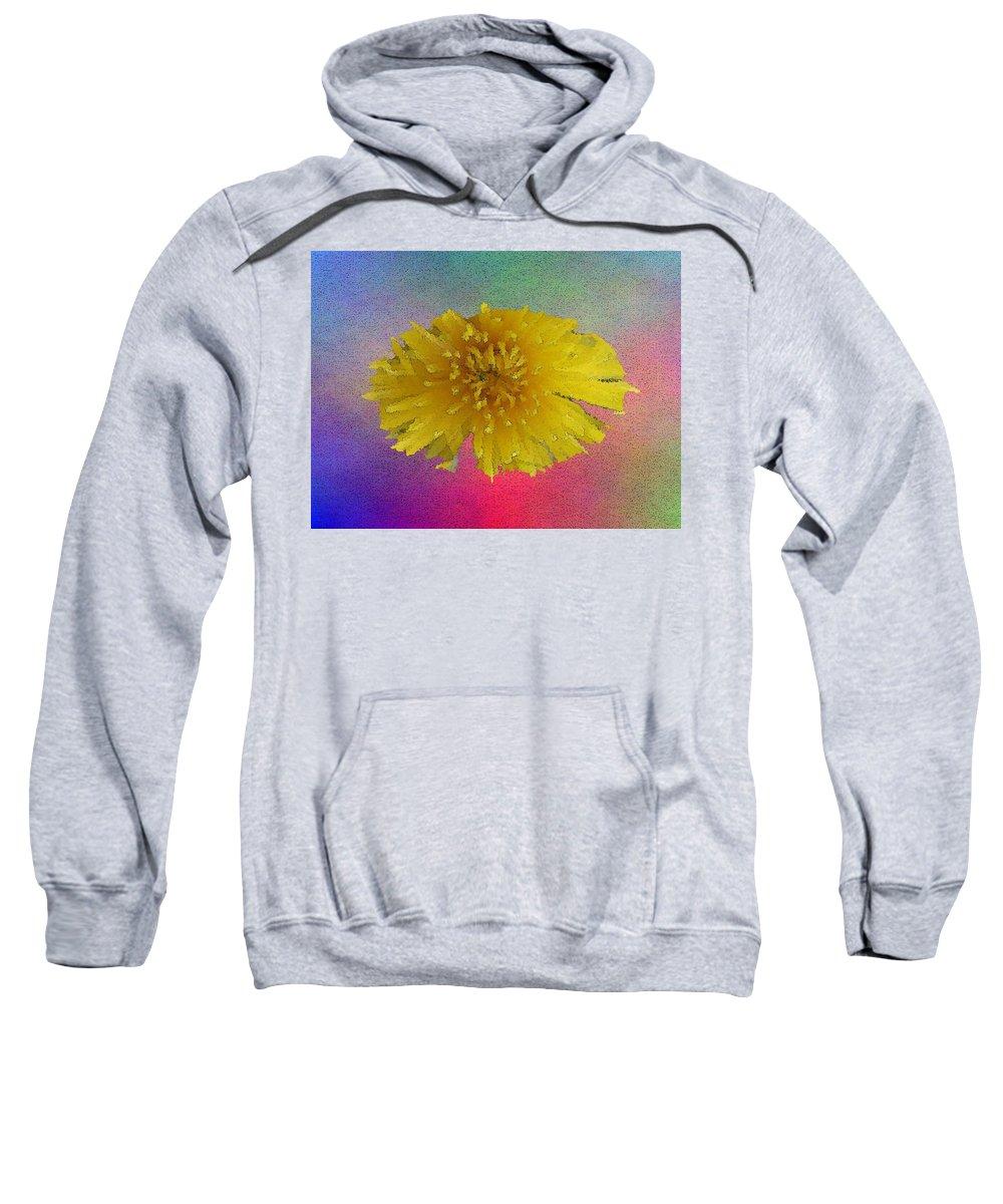 Bloom Sweatshirt featuring the digital art Blooming 3 by Tim Allen