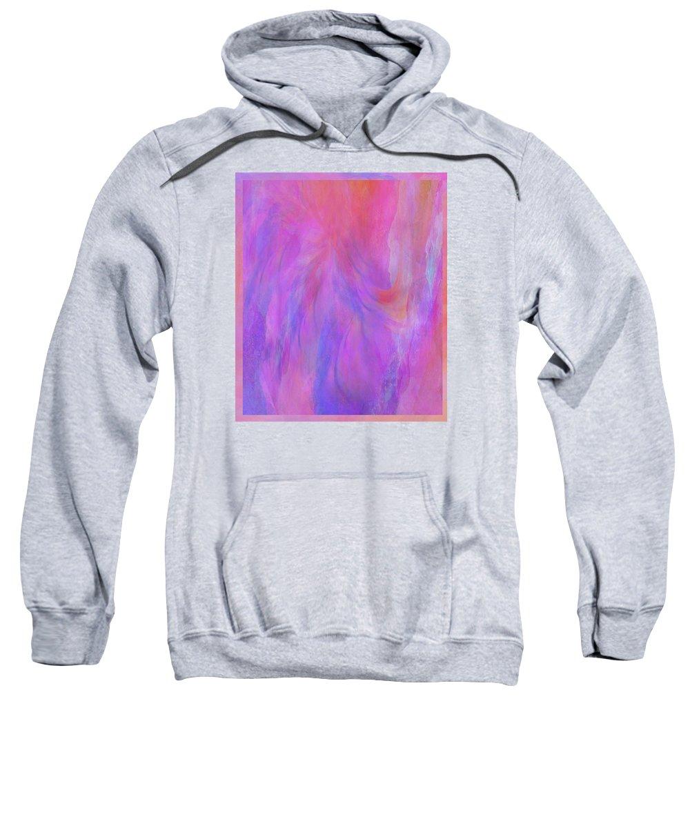Digital Art Sweatshirt featuring the digital art Blossom by Linda Murphy