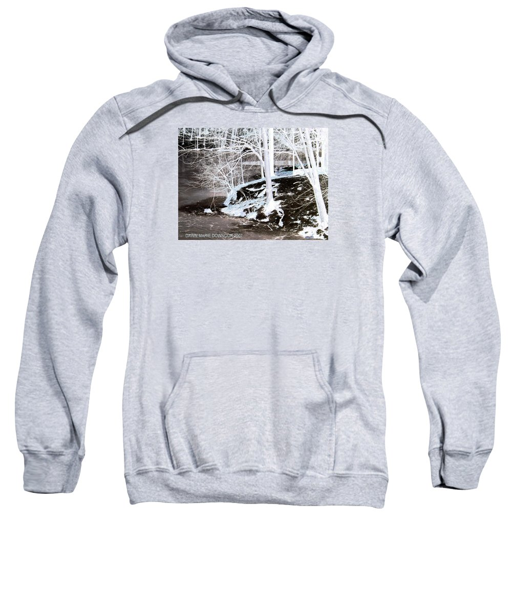 Landscape Sweatshirt featuring the photograph Blue And Brown Trees by Dawn Downour