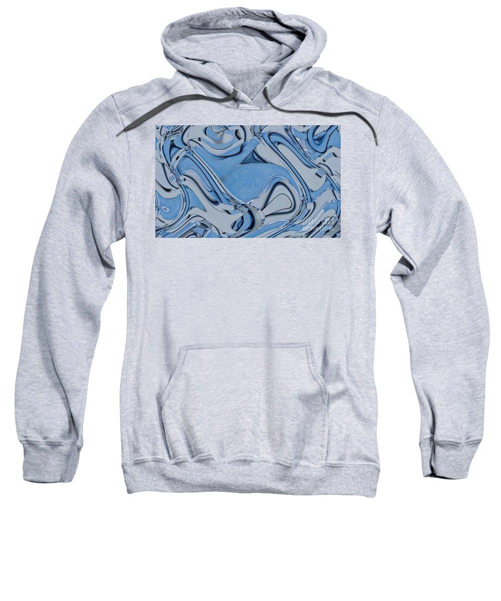 Digital Art Sweatshirt featuring the digital art Blue And Gray by Ron Bissett