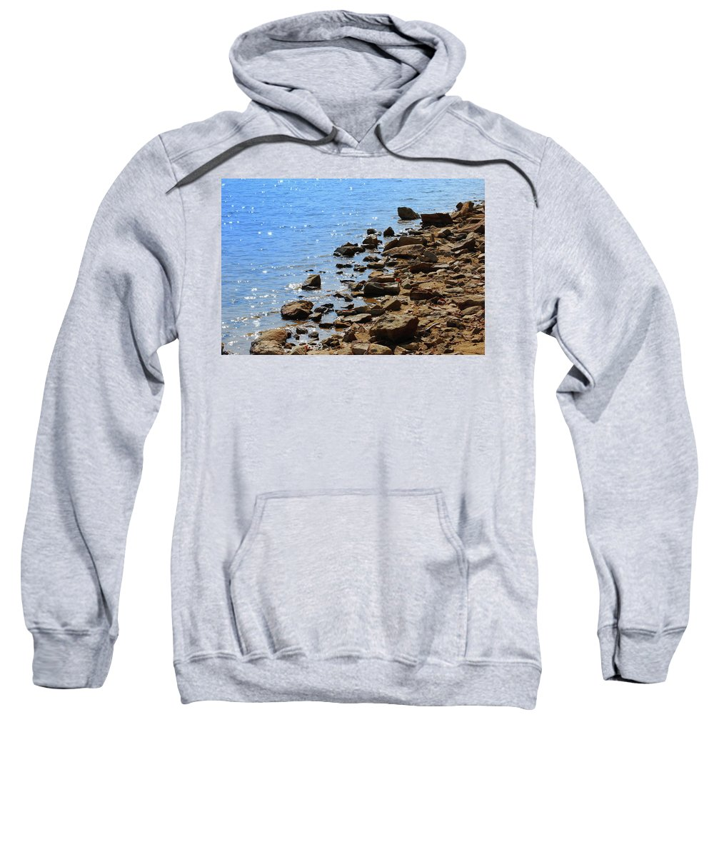 Water Sweatshirt featuring the photograph Blue And Tan by Lori Tambakis