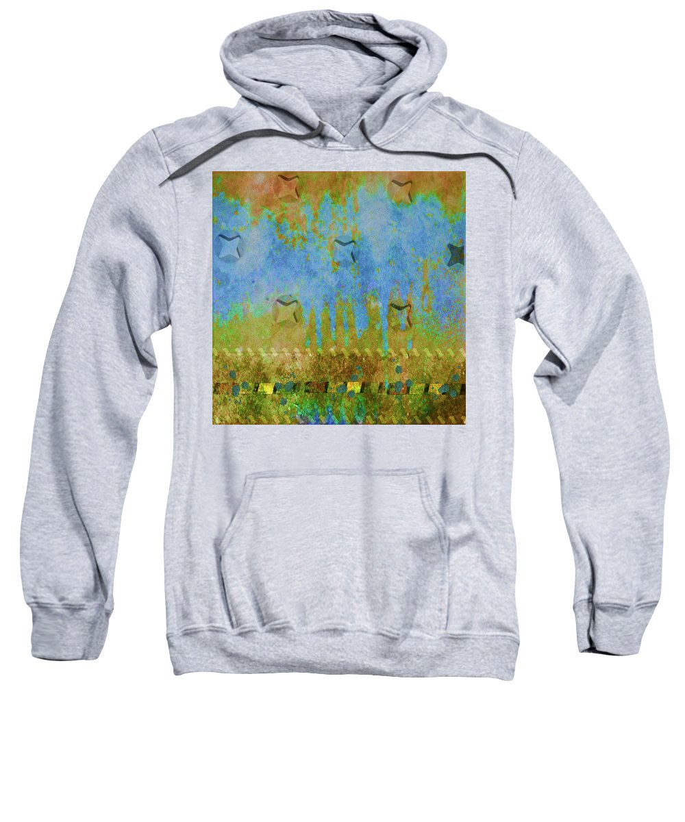 Abstract Sweatshirt featuring the photograph Blue And Yellow Abstract by Karen Beasley