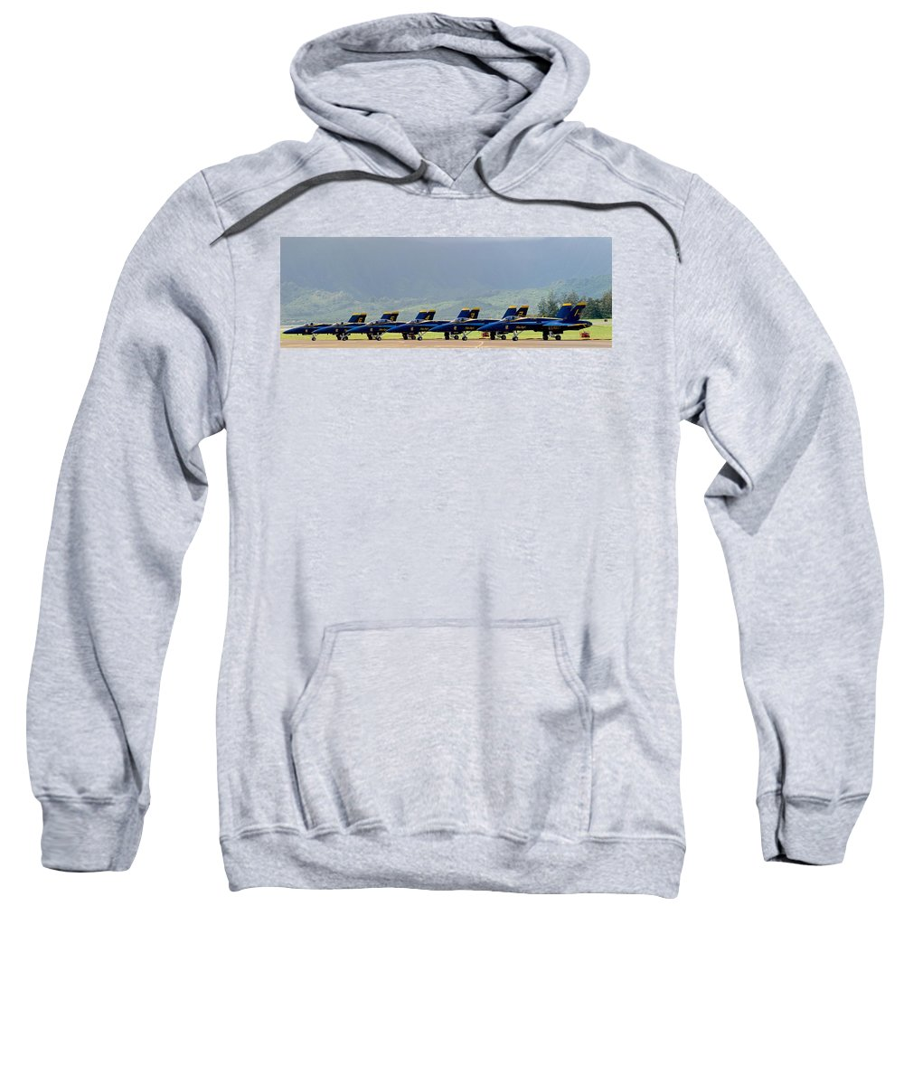 Sweatshirt featuring the photograph Blue Angels by Hayman Tam