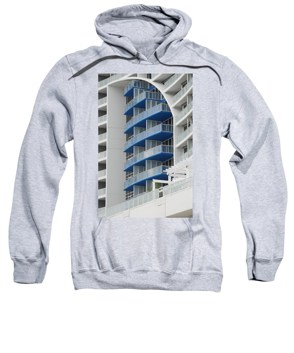 Architecture Sweatshirt featuring the photograph Blue Bayu by Rob Hans