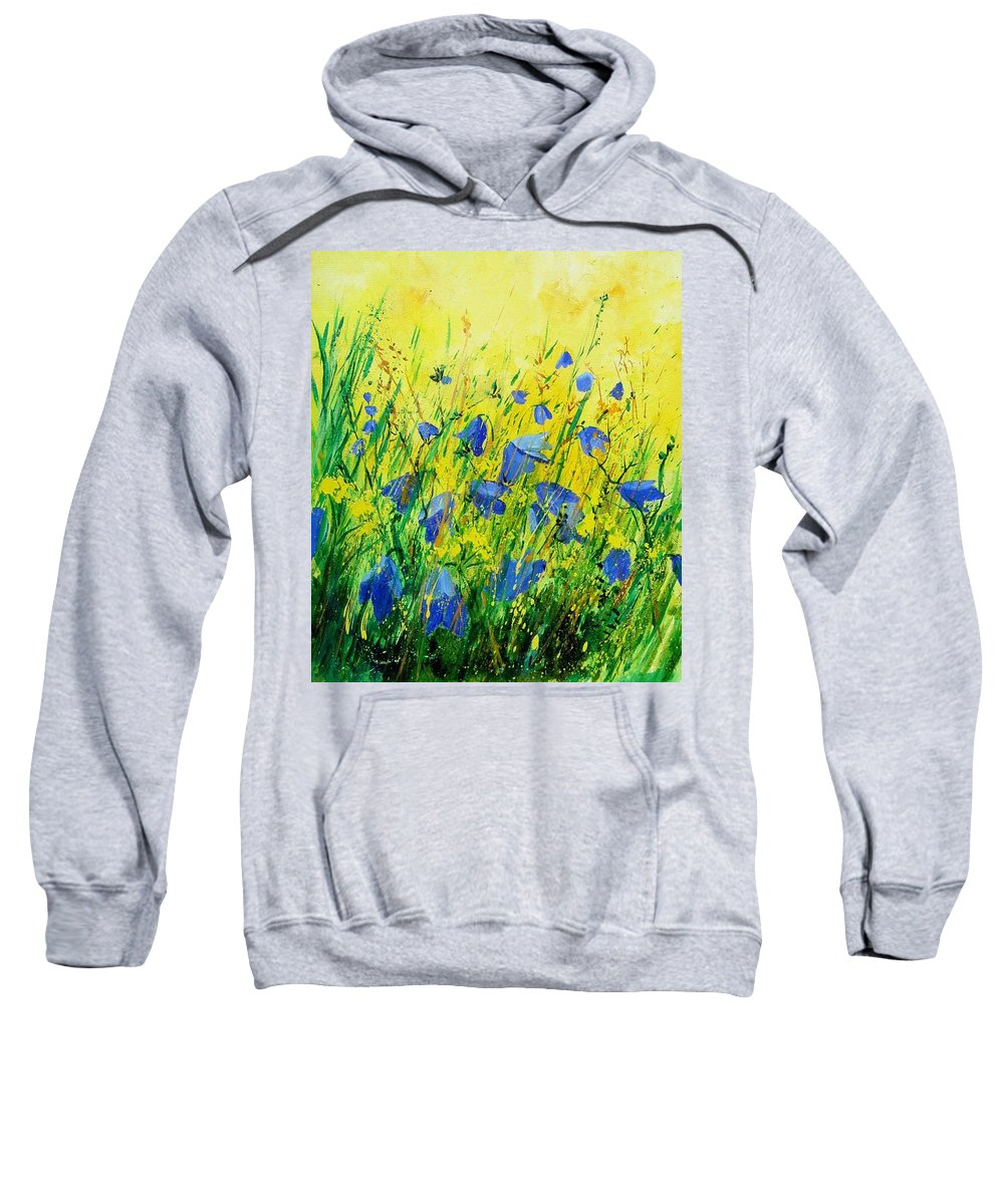 Poppies Sweatshirt featuring the painting Blue Bells by Pol Ledent