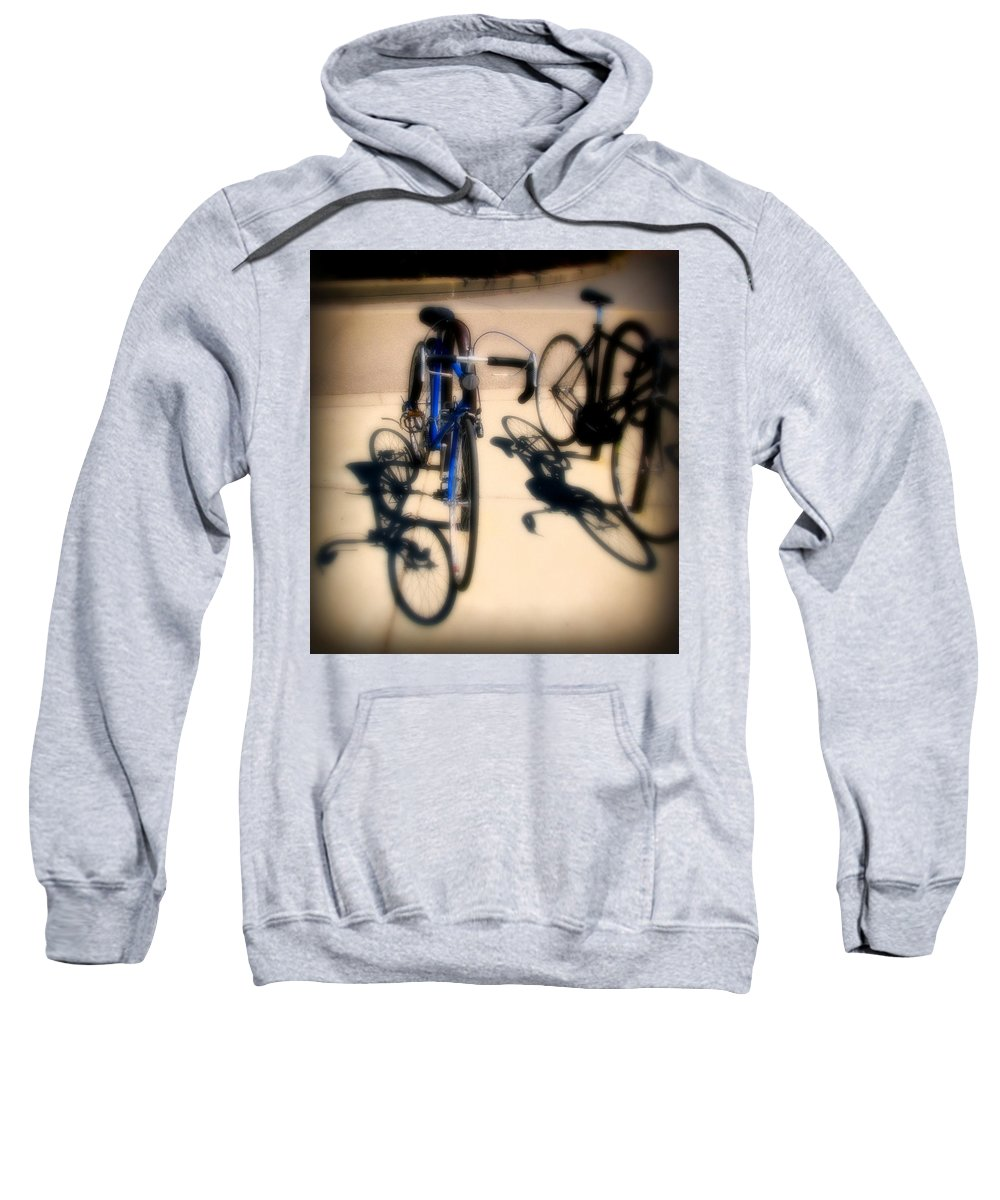 Bike Sweatshirt featuring the photograph Blue Bike by Perry Webster
