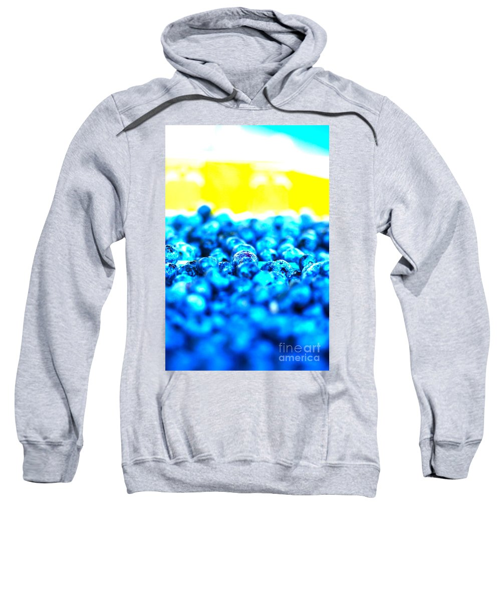 Blue Sweatshirt featuring the photograph Blue Blur by Nadine Rippelmeyer