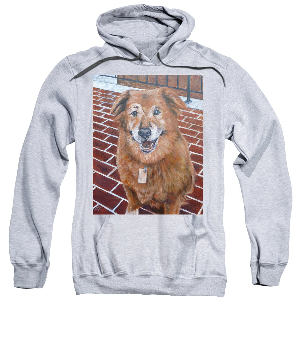 Chow Sweatshirt featuring the painting Blue by Bryan Bustard