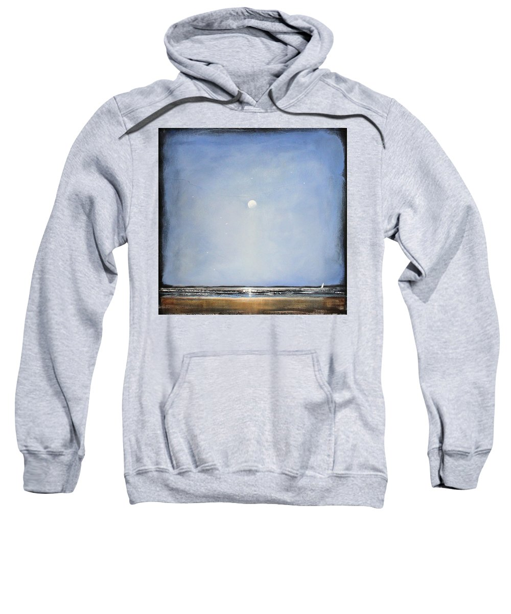 Minimalist Sweatshirt featuring the painting Blue Day by Toni Grote