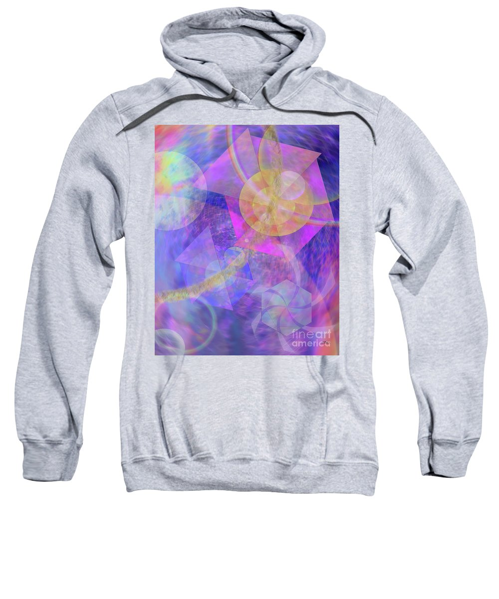 Blue Expectations Sweatshirt featuring the digital art Blue Expectations by John Beck